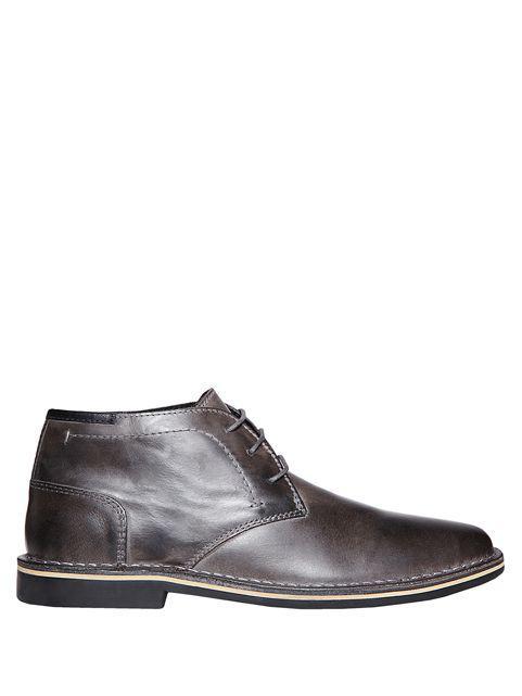 119d221c8e6 Steve Madden Hestonn Leather Chukka Boots in Gray for Men - Lyst