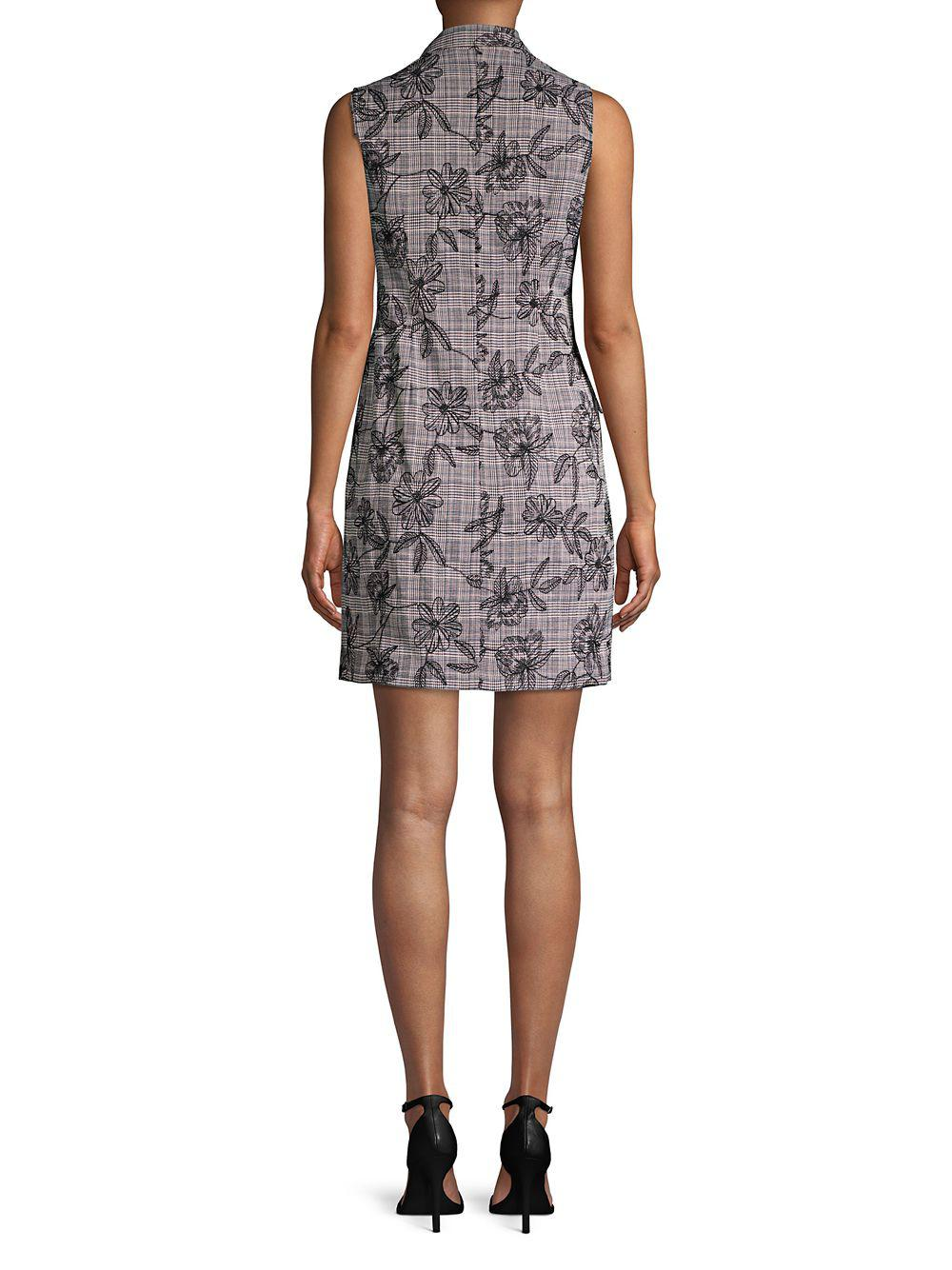 4b7f854ac384d Calvin Klein - Multicolor Sleeveless Double Breasted Blazer Dress - Lyst.  View fullscreen