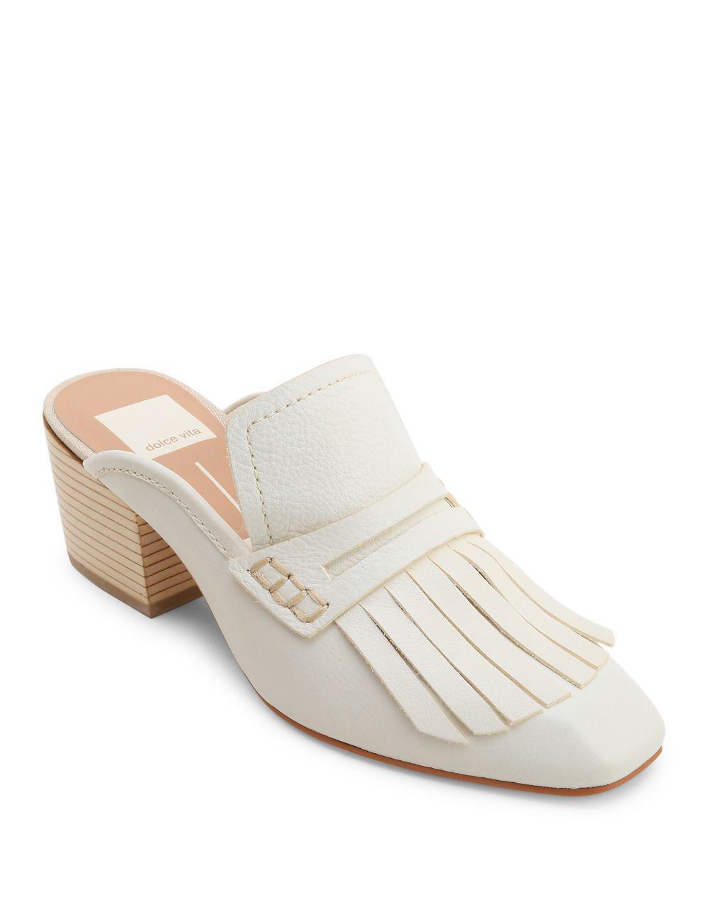 Dolce Vita Women's Katina Leather Block Heel Mules MpmoSkGdGM