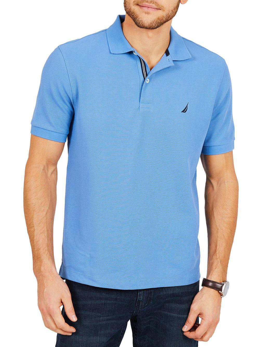 Lyst Nautica Classic Fit Moisture Wicking Polo Shirt In Blue For Men