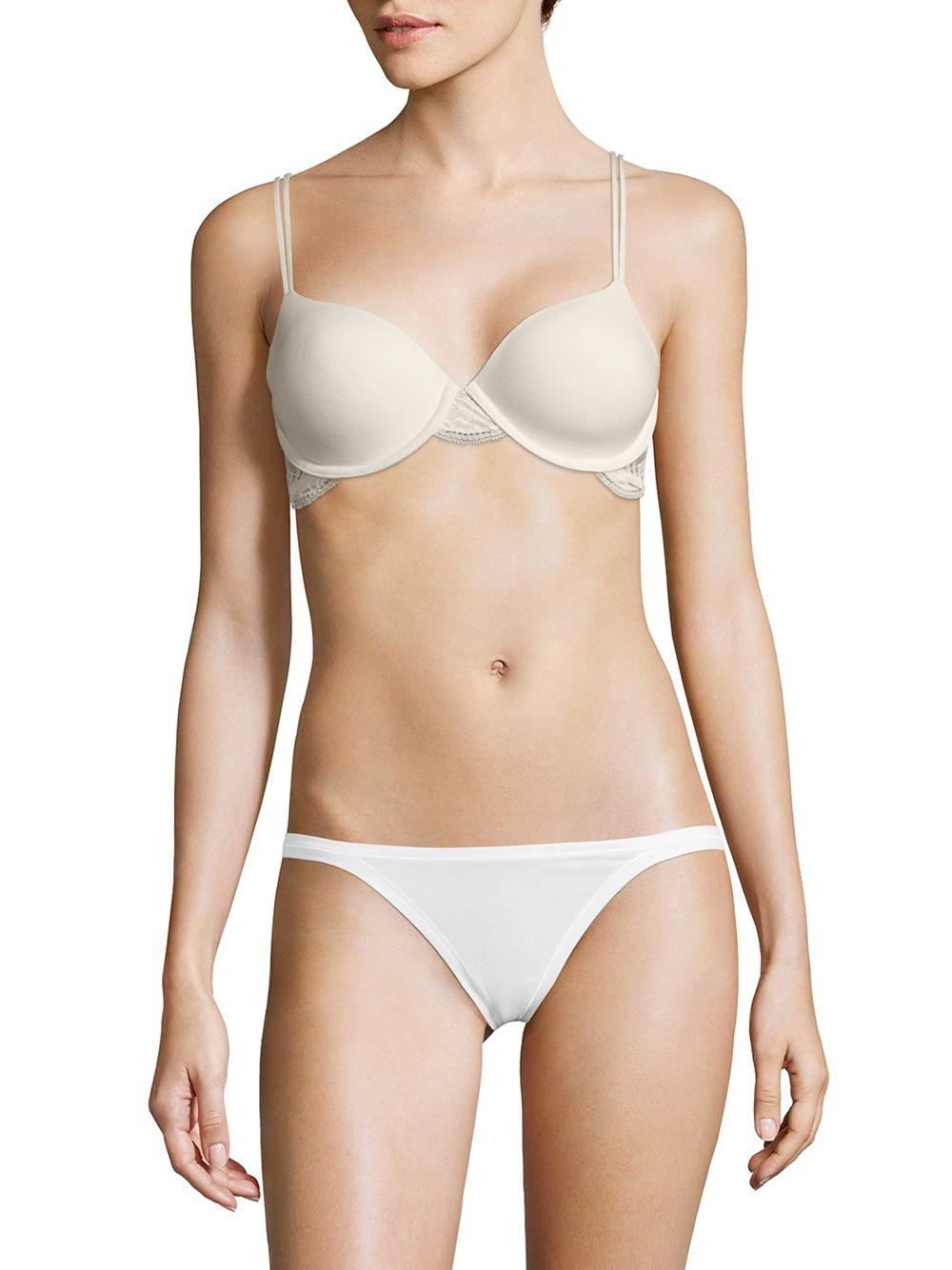 408c0444d9 Calvin Klein Perfectly Fit Firework Lace Lightly Lined Bra in White ...