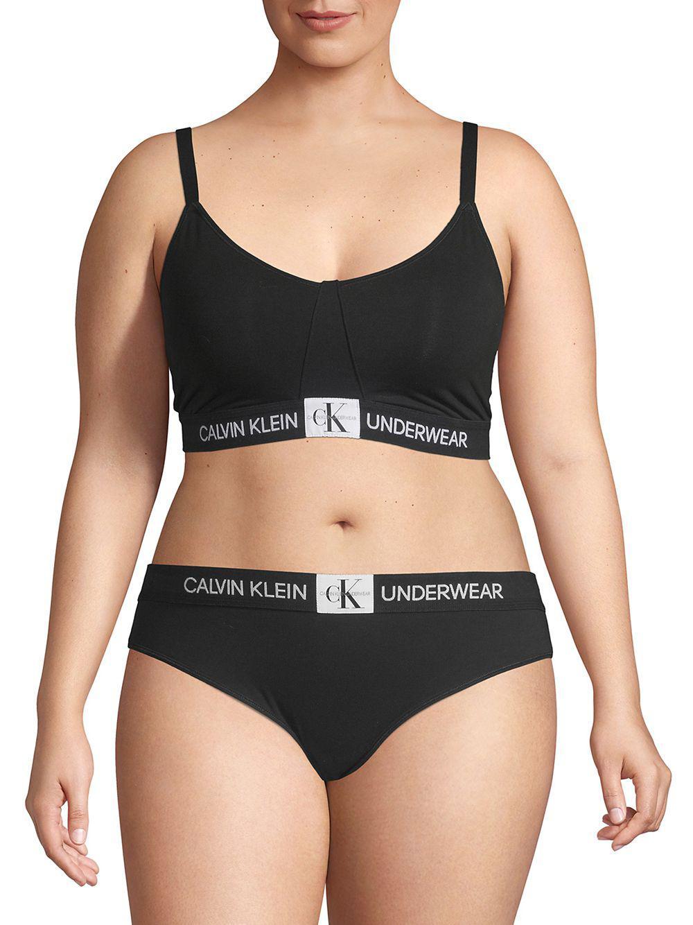 a9ca45e9850b6 Lyst - Calvin Klein Unlined Sports Bra in Black