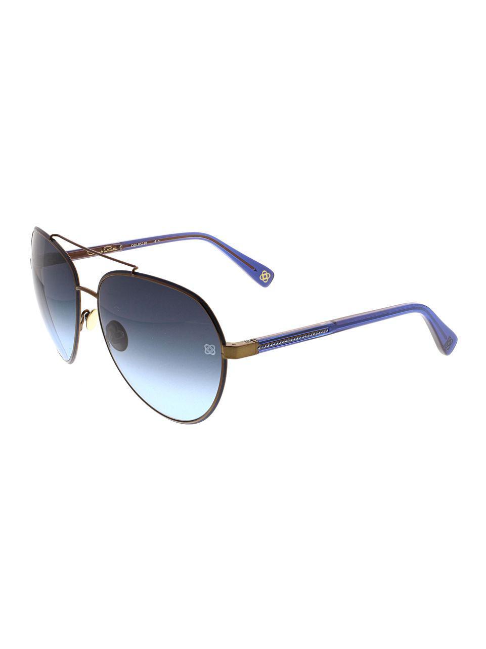4c258a98aa Oscar De La Renta 61mm Aviator Sunglasses in Blue - Save ...