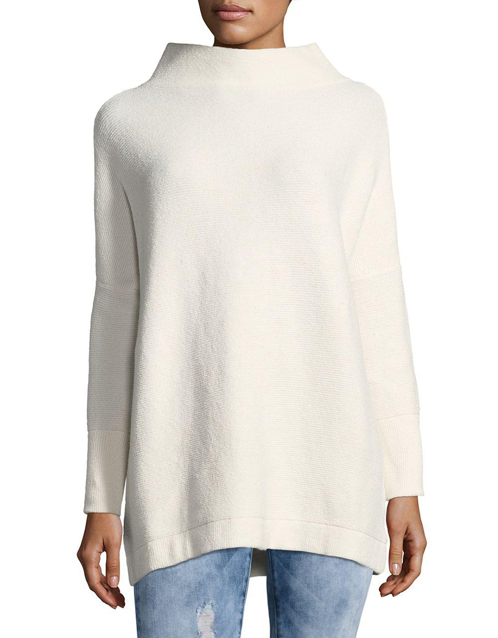 Free people Ottoman Slouchy Tunic Sweater in White | Lyst