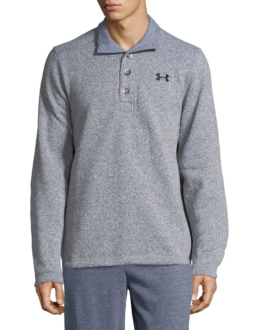 Lyst Under Armour Storm Specialist Dual Layer Sweater In Gray For Men