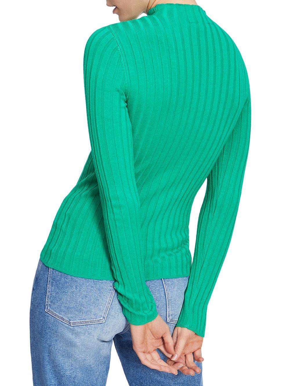 Funnel Lyst In Knitted Green Popper Top Selfridge Neck Miss aRRnft4