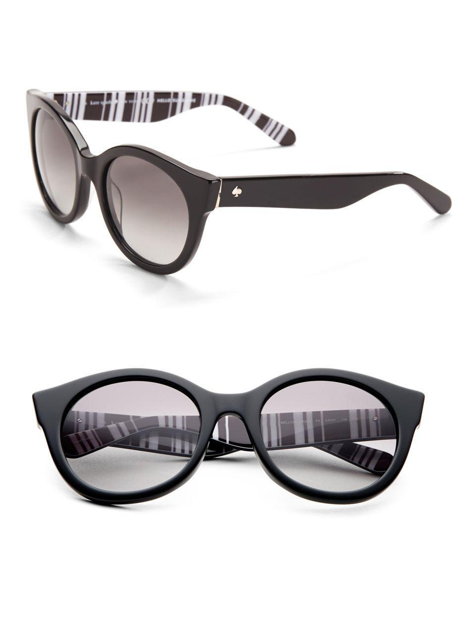 b5c9b18b26 Lyst - Kate Spade Melly 53mm Round Sunglasses in Black