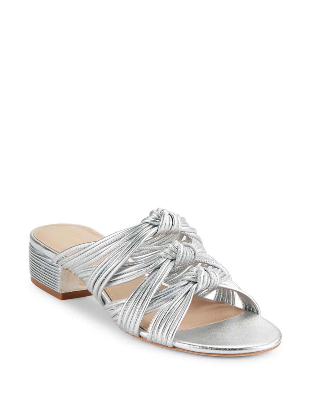 Lyst Zoe Knotted Metallic Sandals Leather Wren Rachel In qpMSUzVG