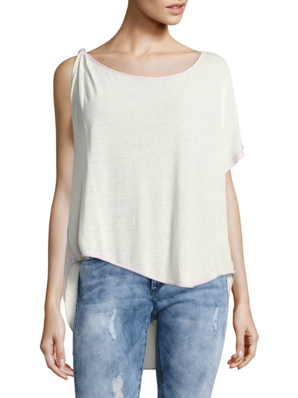 ded29ca0a90af5 Free People Pluto One-shoulder Top in White - Lyst