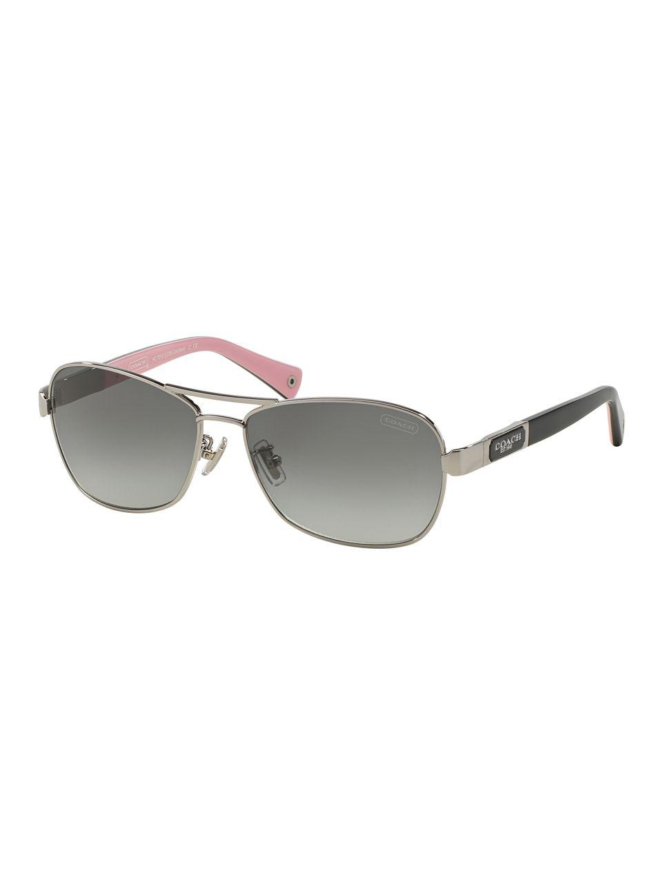 aed1cd1865c1 ... greece lyst coach caroline 56mm pilot sunglasses in gray 5bacc 1cd22