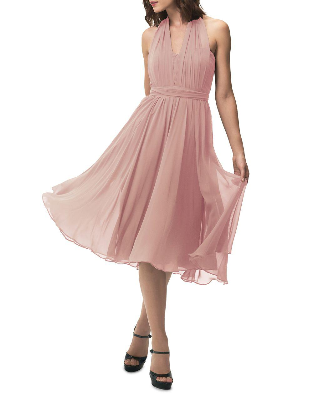 3ca288b140 Jenny Yoo Sweetheart Halter Overlay Dress in Pink - Lyst