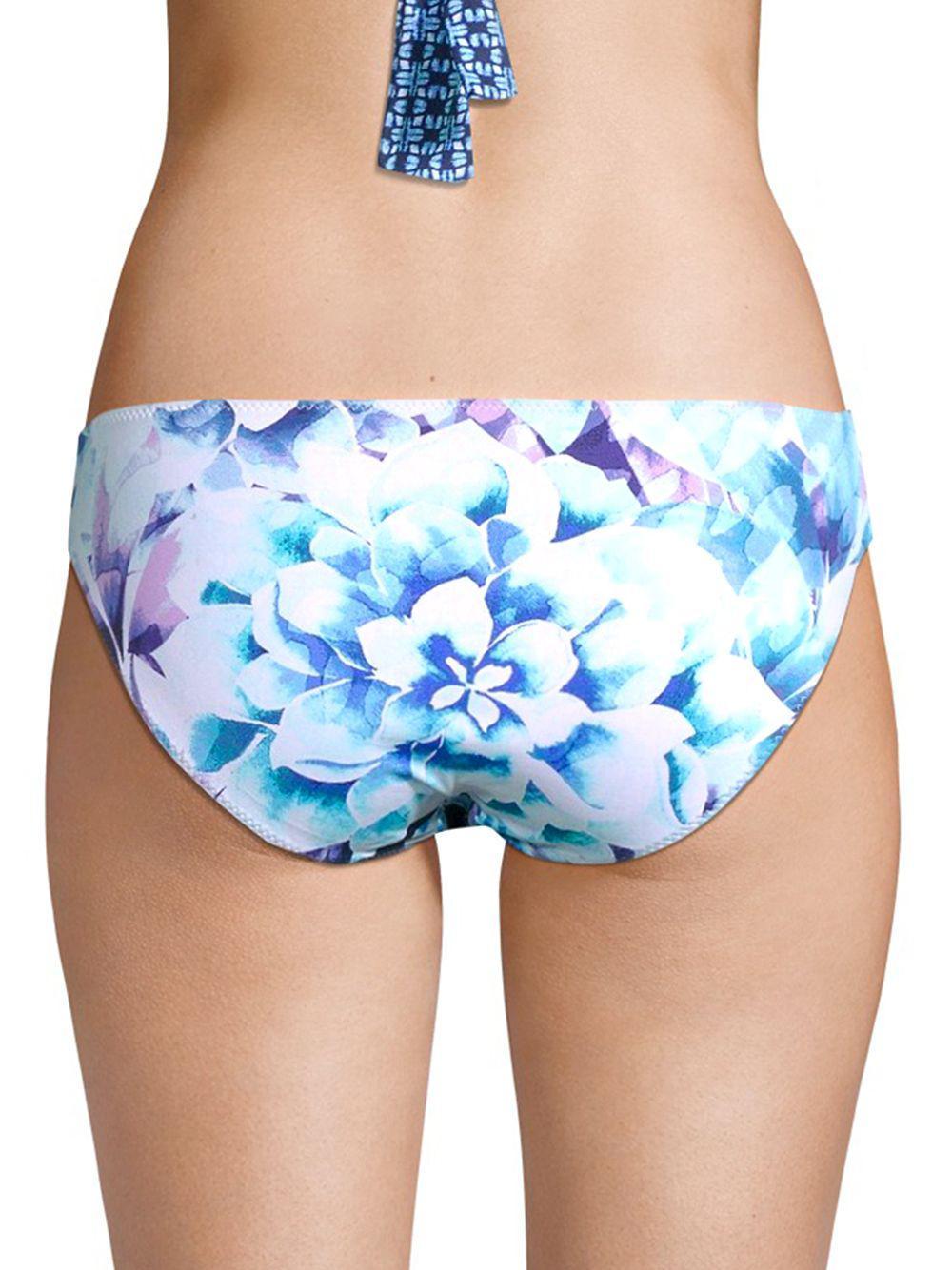 618ceaae9b Lyst - Tommy Bahama Aquapetals Reversible Side Shirred Bikini Bottom in Blue