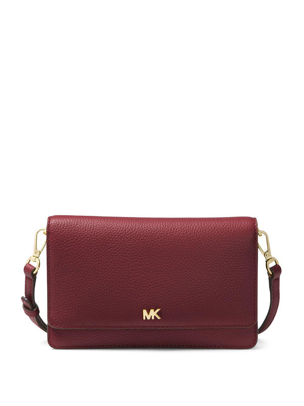 8a3a65636d96 MICHAEL Michael Kors. Women s Purple Pebbled Leather Convertible Crossbody  Bag