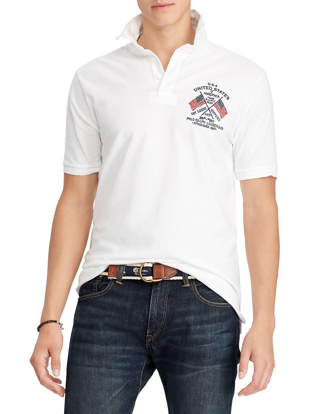 2a4bf0b5808 Lyst - Polo Ralph Lauren Classic-fit Mesh Rugby Shirt in White for Men