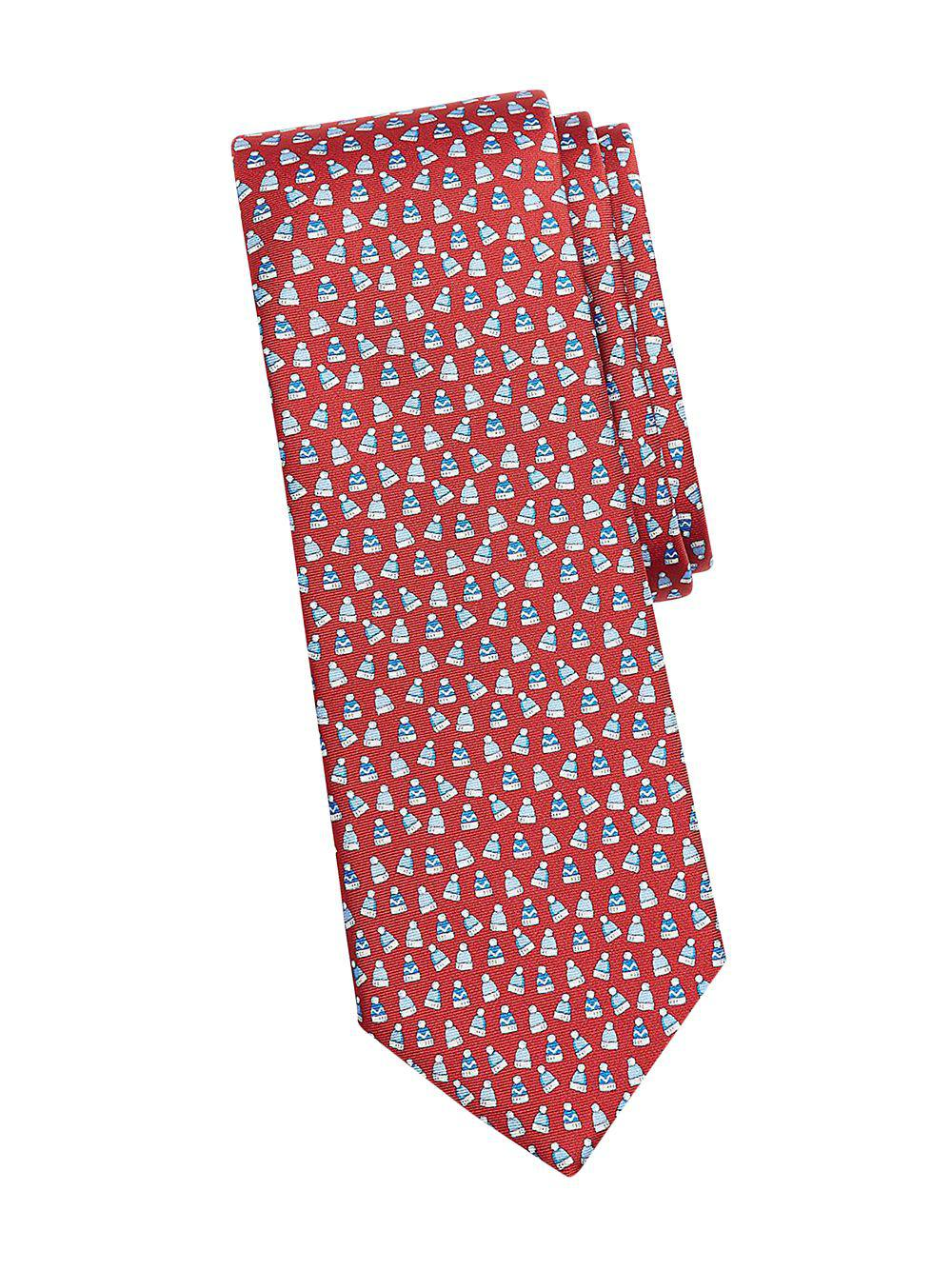 cd839da0d87 Lyst - Brooks Brothers Red Fleece Winter Hat Printed Silk Tie in Red ...