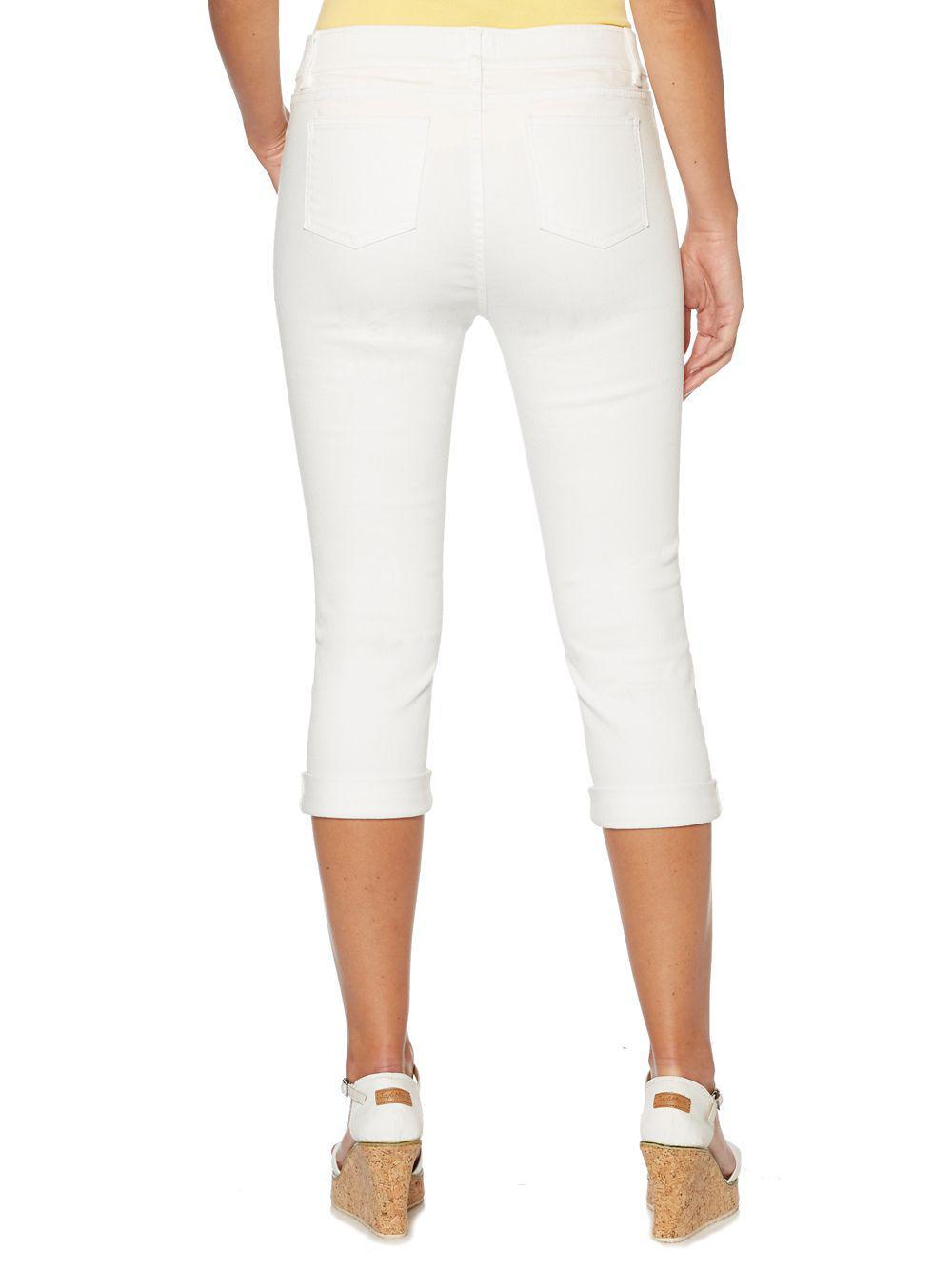 c59b78c818a Rafaella - White Petite Capri Pants - Lyst. View fullscreen