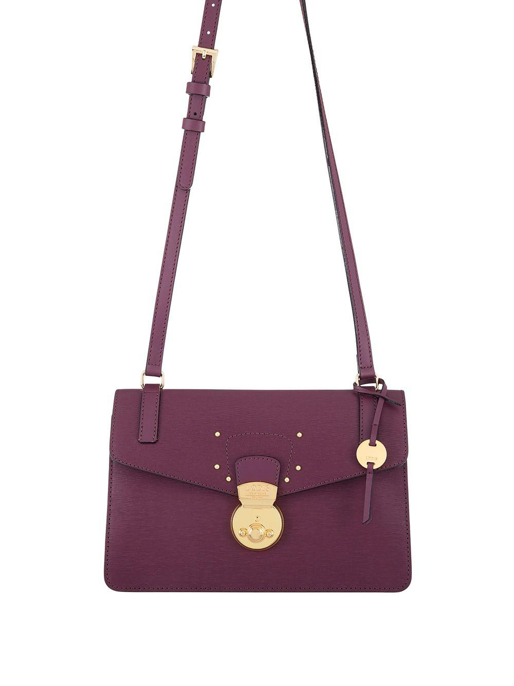 2404579cb5 Lyst - Lodis Bel Air Rfid Abigail Leather Crossbody Bag in Purple