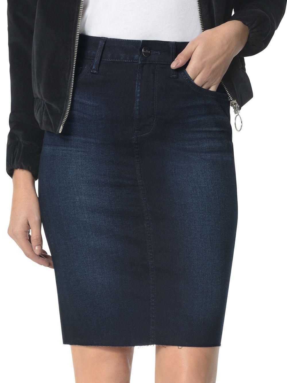 f1d214d68 Sam Edelman The Riley Denim Pencil Skirt in Blue - Lyst