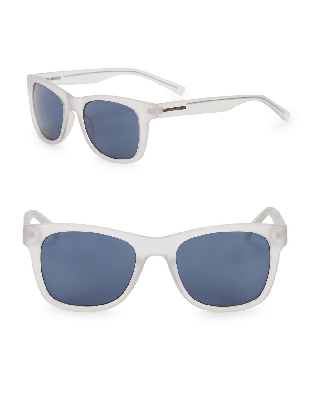 4ac9465fbc Lyst - Calvin Klein 52mm Square Logo Sunglasses in Blue for Men