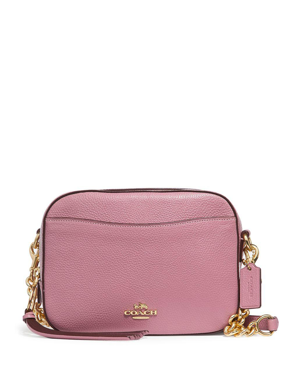 f66e362fa88d COACH - Pink Leather Camera Crossbody Bag - Lyst. View fullscreen