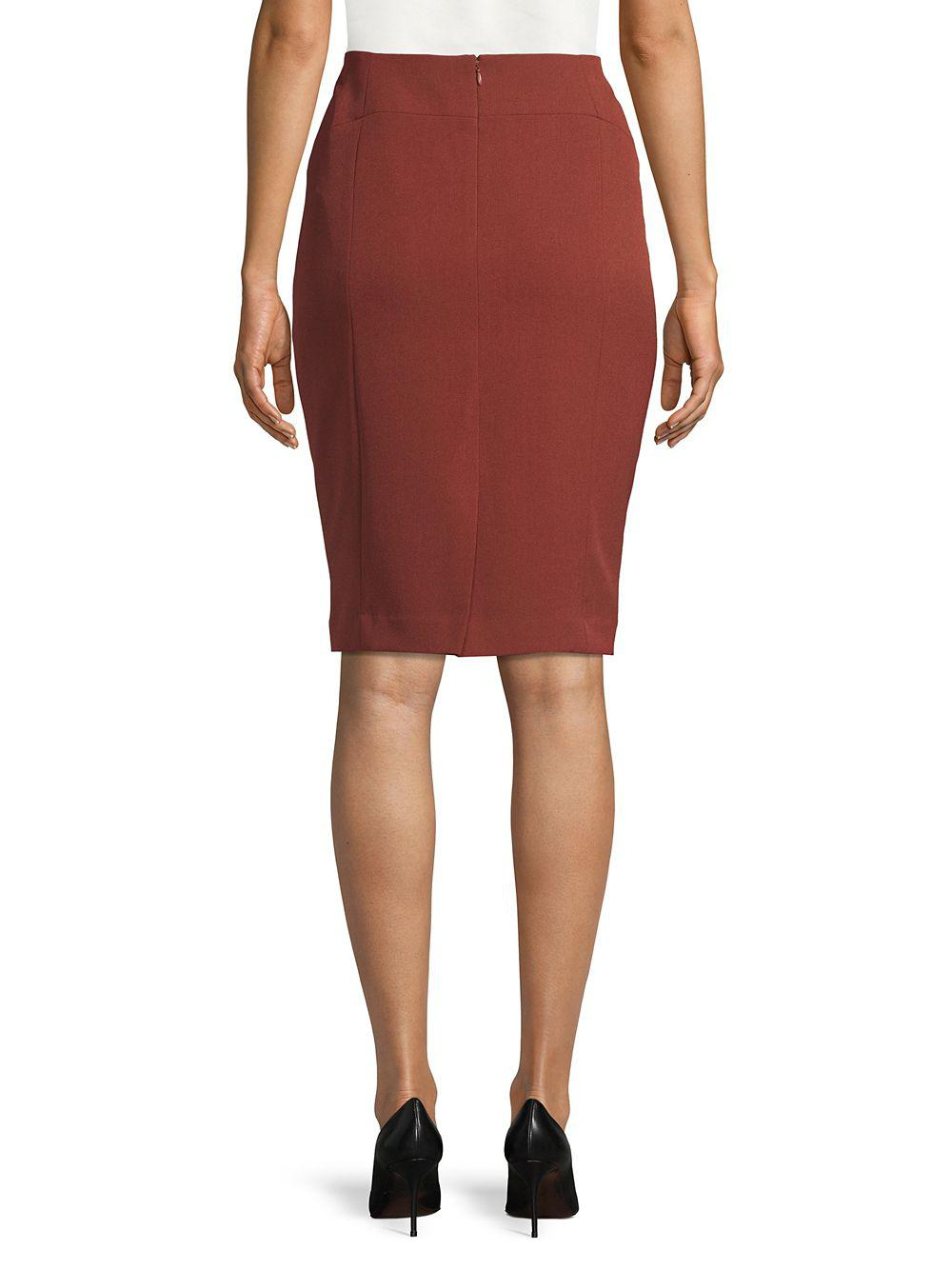 16dae63cc73 Lyst - Nipon Boutique Stretch Pencil Skirt in Red