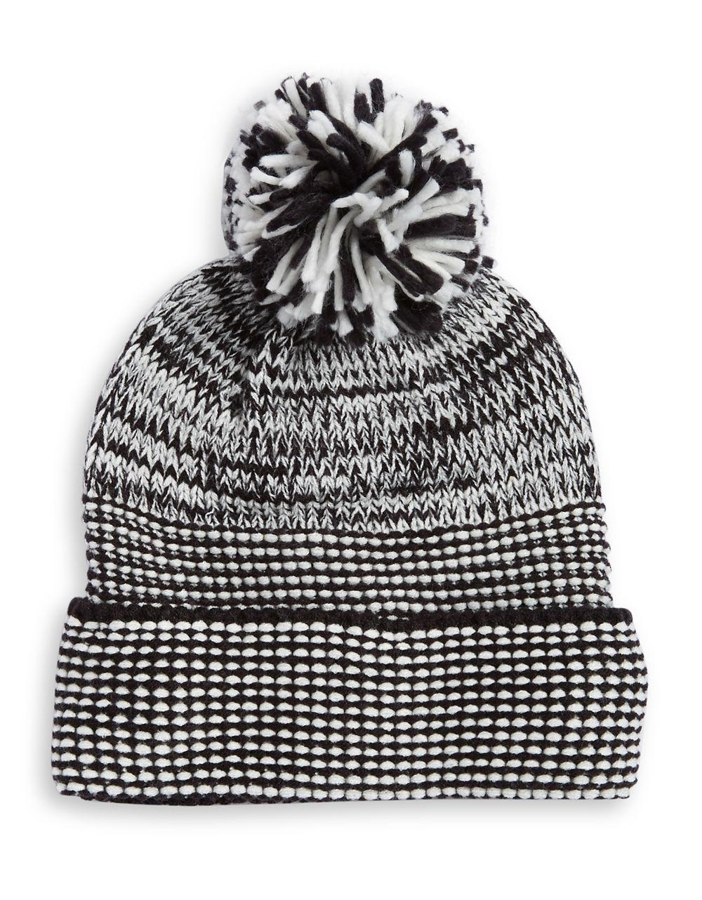 Lyst - Rebecca Minkoff Always On Cable Knit Headphone Beanie in Black d51c5d0a4d4