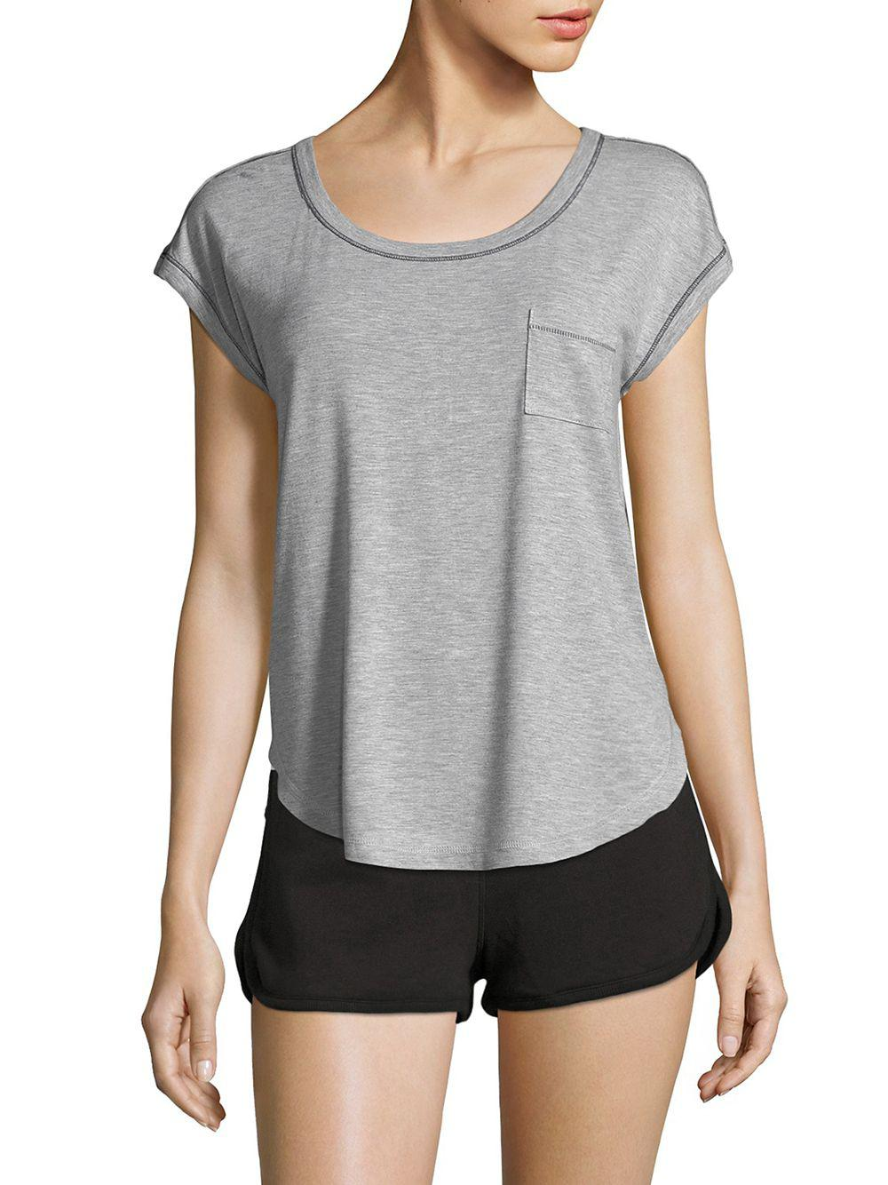 ae8ec258cfd Lyst - Splendid Heather Hi-lo Tee in Gray