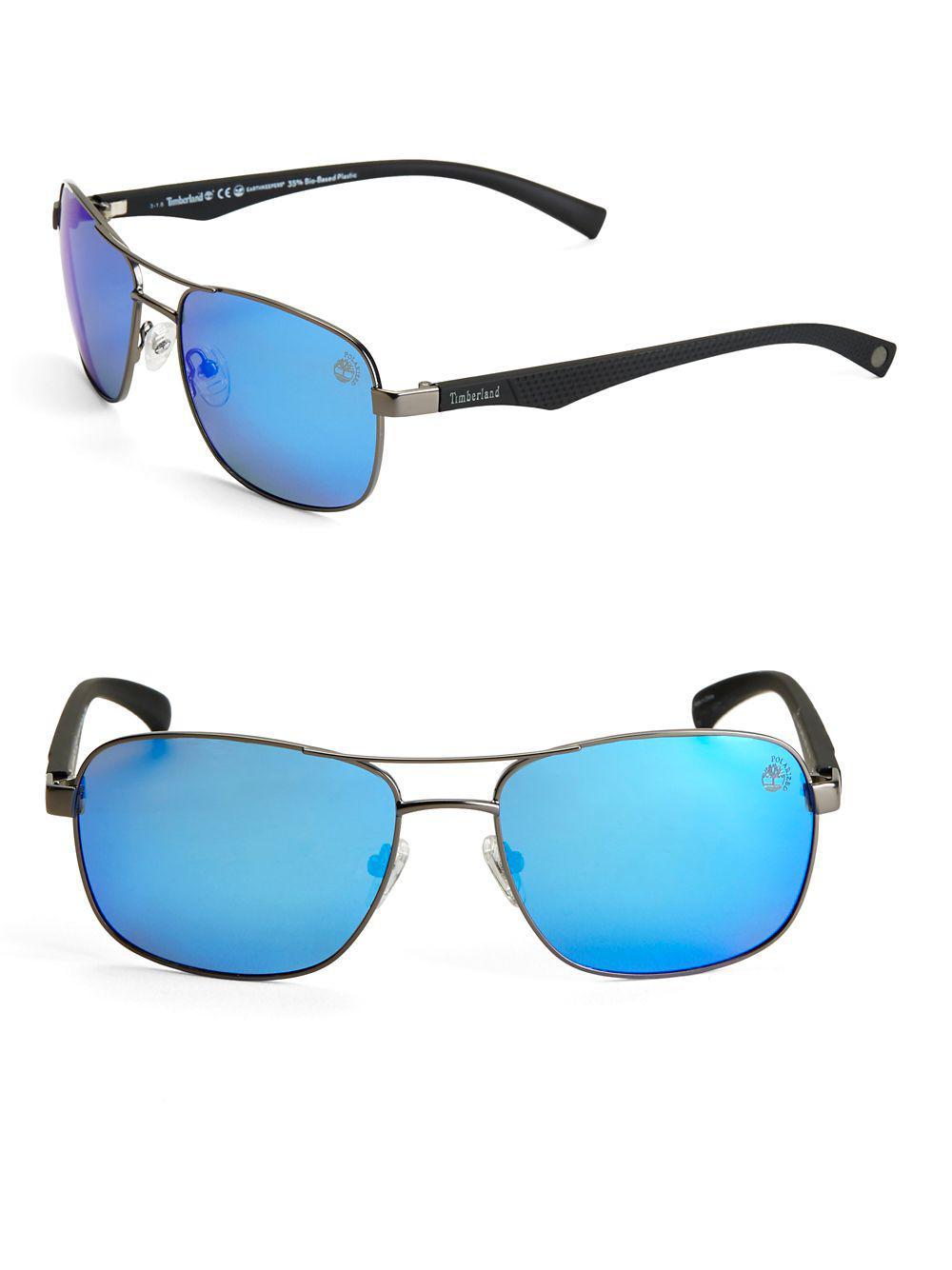 c615d3344e Timberland - Blue 59mm Aviator Sunglasses for Men - Lyst. View fullscreen