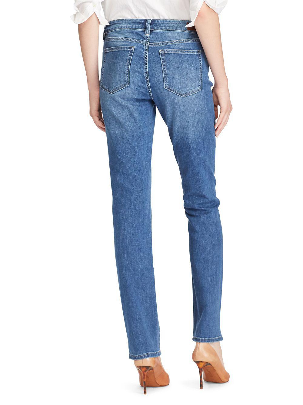 2429afea2b225 Lauren by Ralph Lauren - Blue Premier Straight Jean - Lyst. View fullscreen