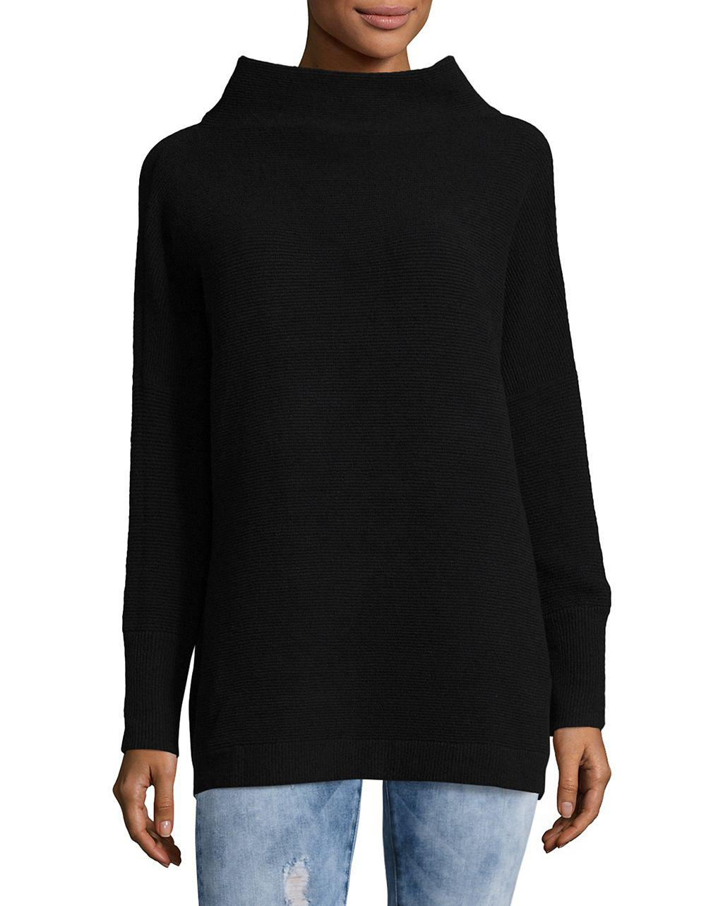 Free people Ottoman Slouchy Tunic Sweater in Black | Lyst