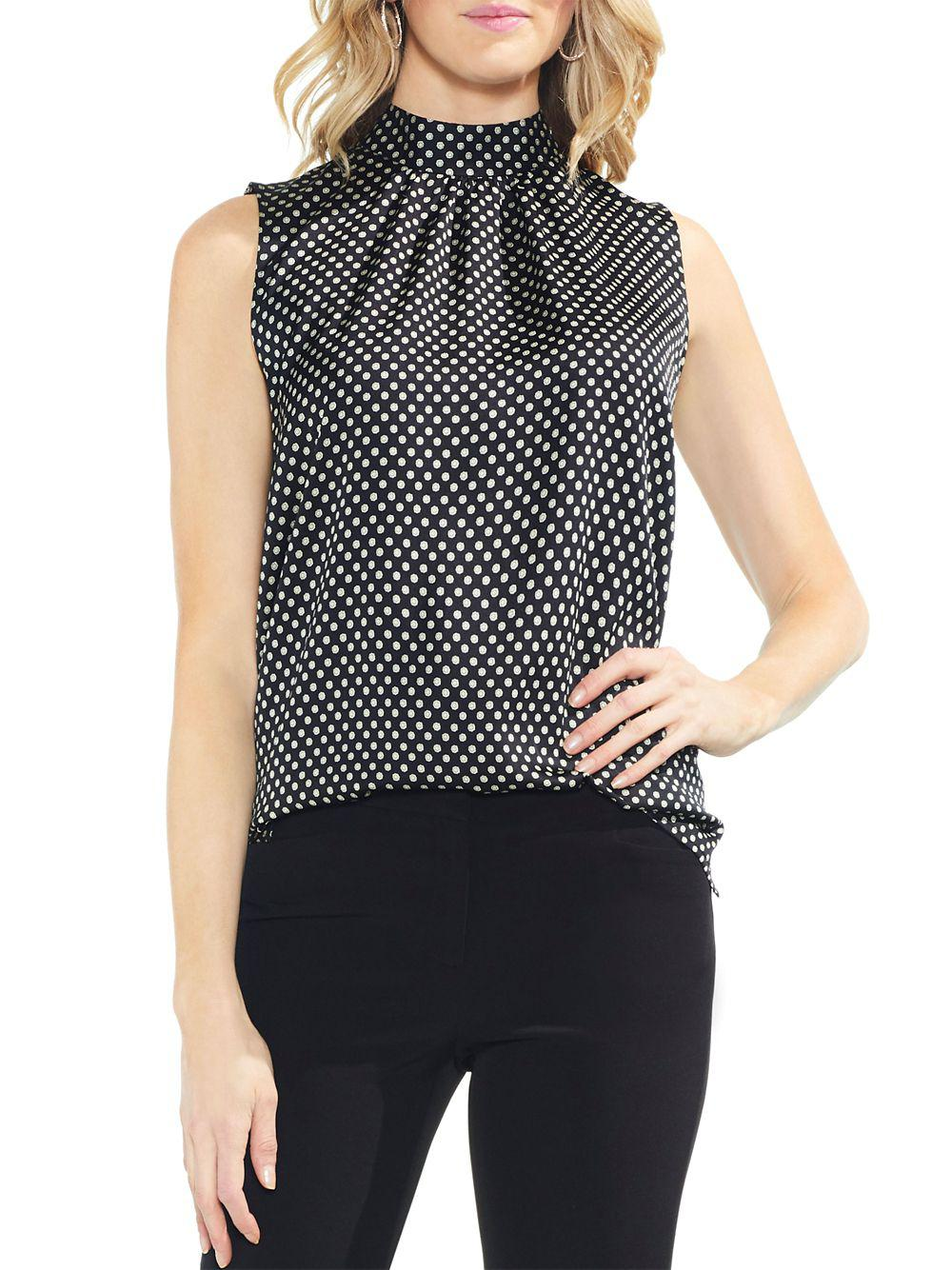 ea632594badf2 Lyst - Vince Camuto Estate Jewels Printed Blouse in Black