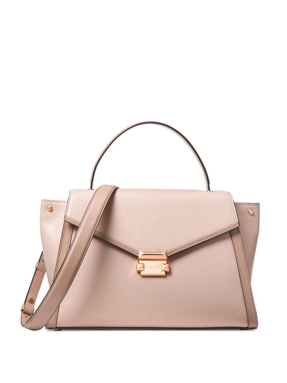 19a8753a9c4f MICHAEL Michael Kors. Women s Pink Whitney Colorblock Top-handle Leather  Satchel