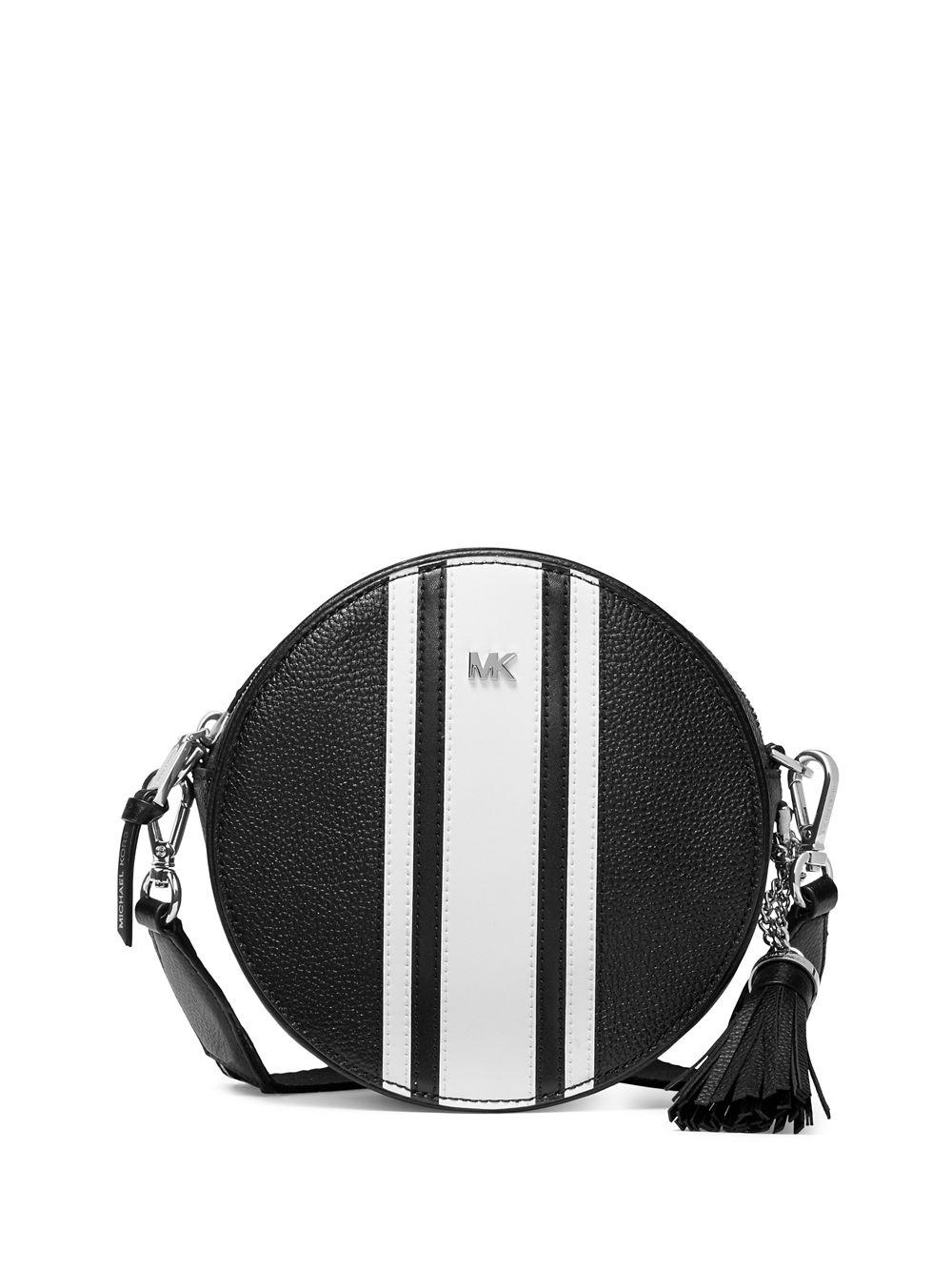 d975a5945a4f ... hot lyst michael kors medium striped crossbody can bag in 54181 352e7