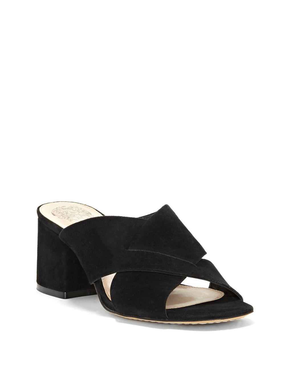 efb2e89b27e Lyst - Vince Camuto Stania Suede Sandals in Black