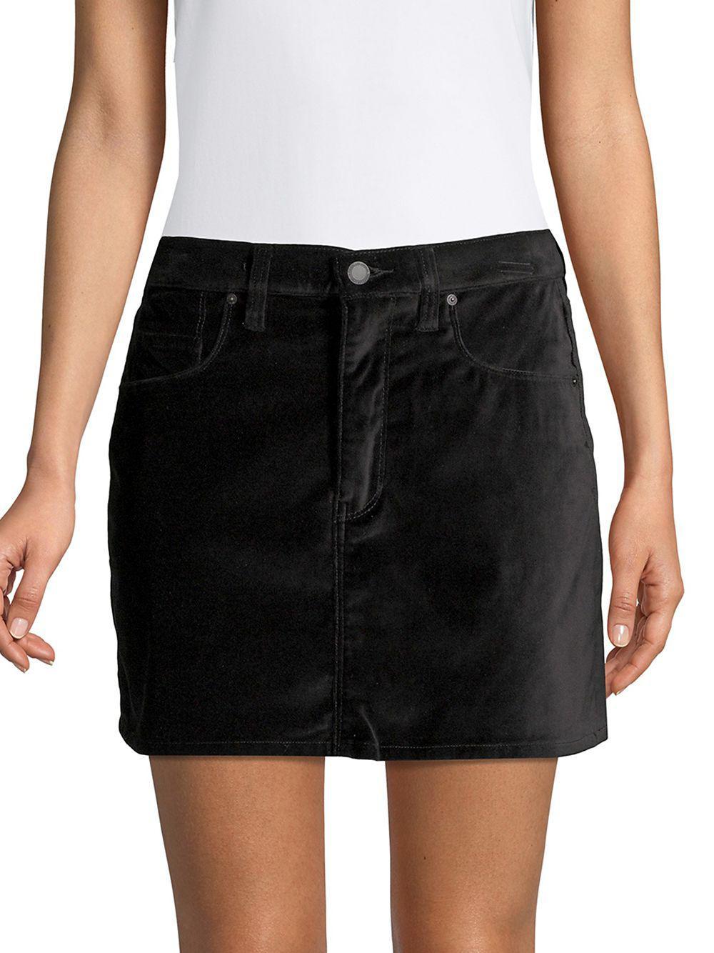 a2fe73ff3 Hudson Jeans Viper Corduroy Mini Skirt in Black - Lyst