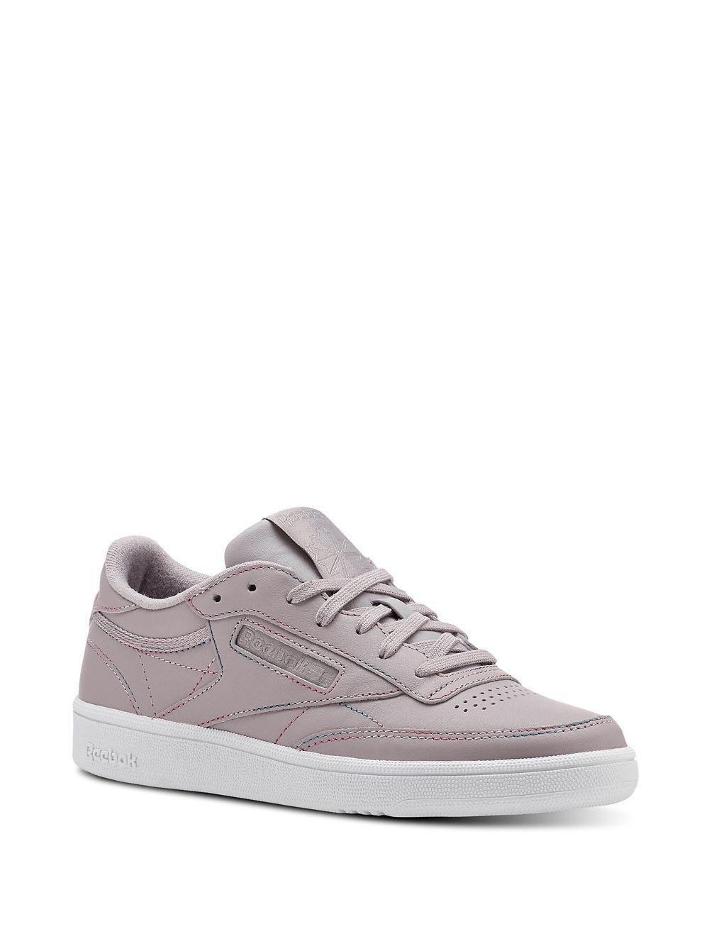 9f7548201fb22 Reebok Club C 85 Leather Low-top Sneakers in Gray - Lyst
