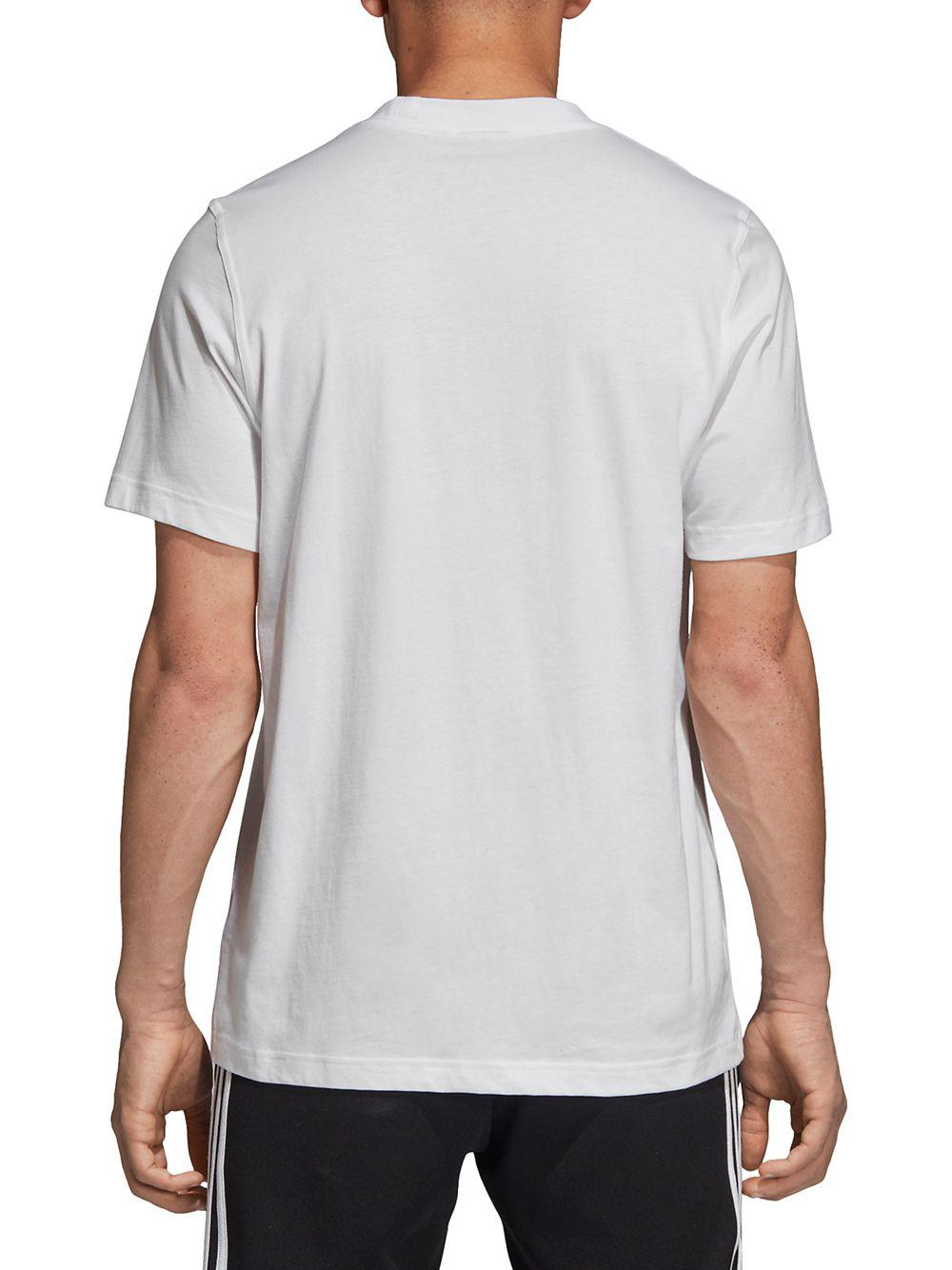 1d6e2605c1d09 Lyst - Adidas Graphic Cotton Tee in White for Men