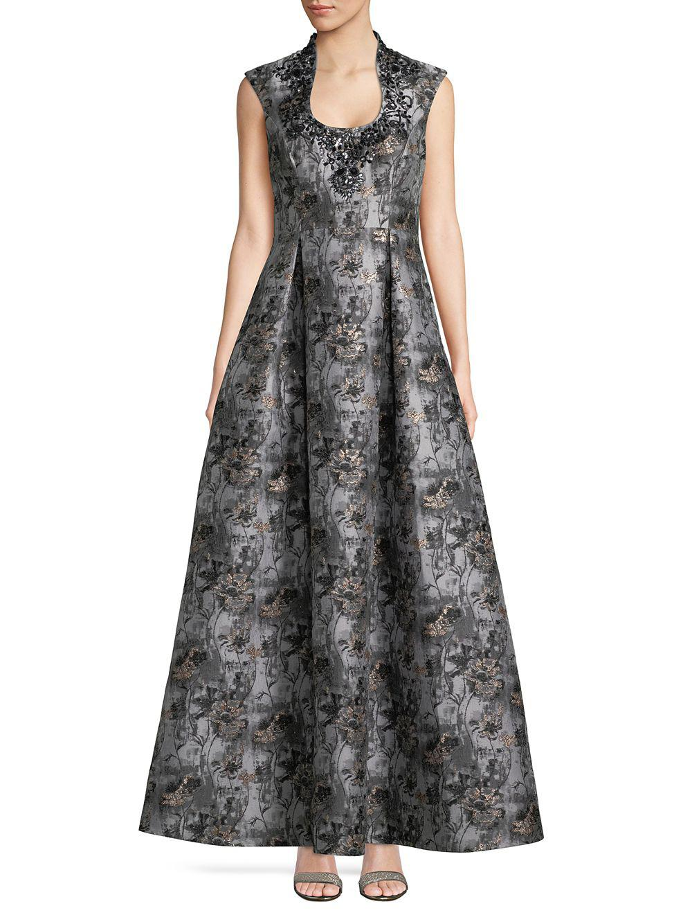 846f0be2aa1 Aidan By Aidan Mattox. Women s Embellished Floral Gown