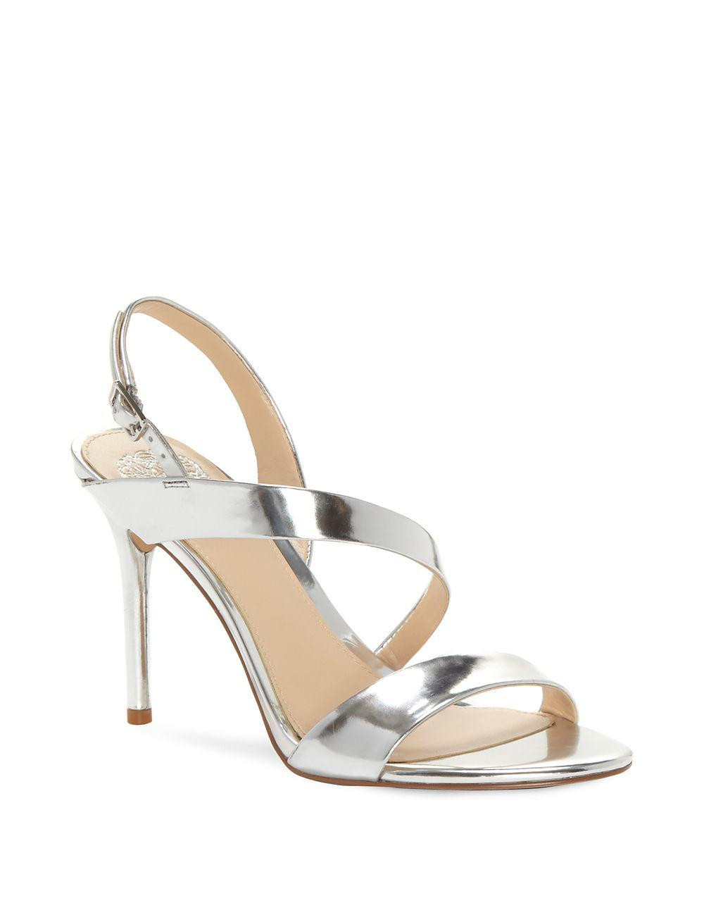 Vince Camuto Costina Metallic Leather Strappy Dress Sandals qsAiis