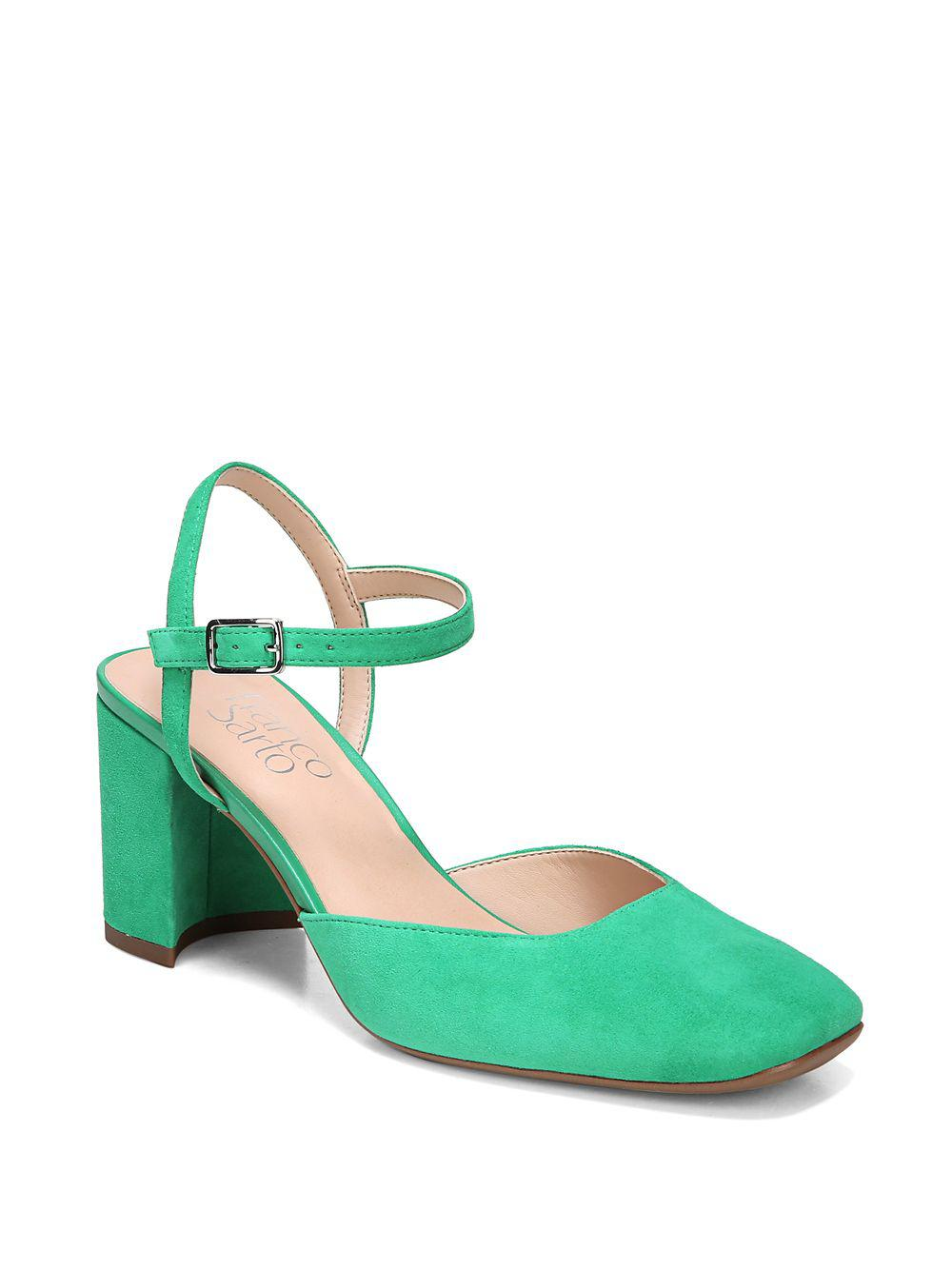 d1d9b414874a Lyst - Franco Sarto Lavita Suede Ankle-strap Pumps in Green