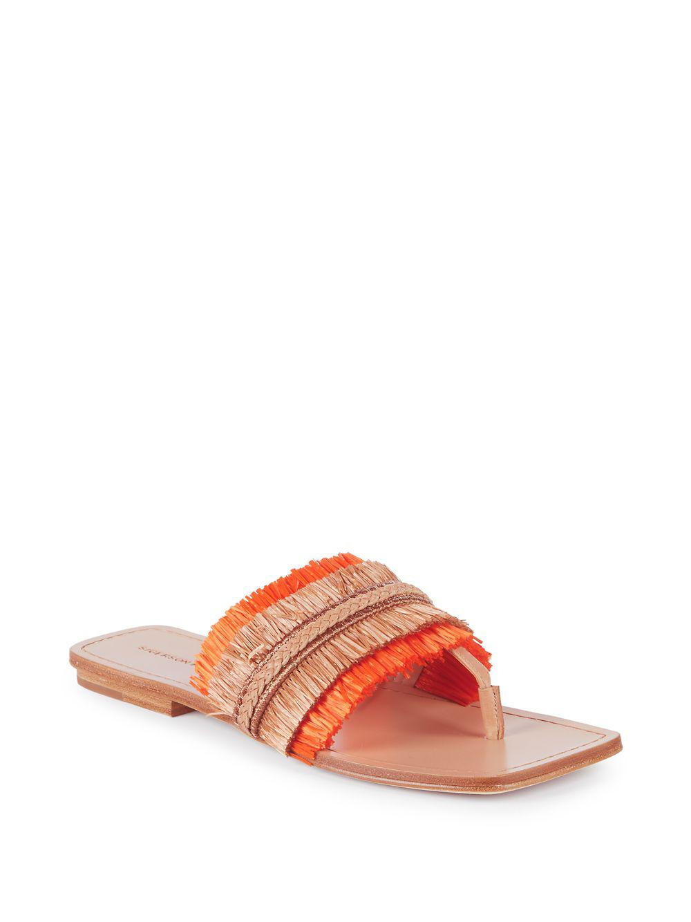 Belle by Sigerson Morrison Women's Abbe Textured Patent Leather Slide Sandals