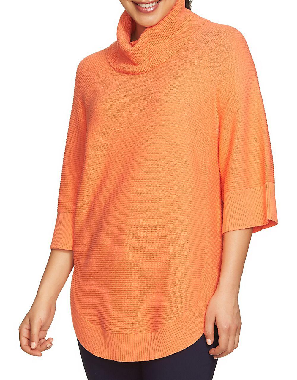 Chaus Dolman Sleeve Cowl Neck Sweater in Orange | Lyst