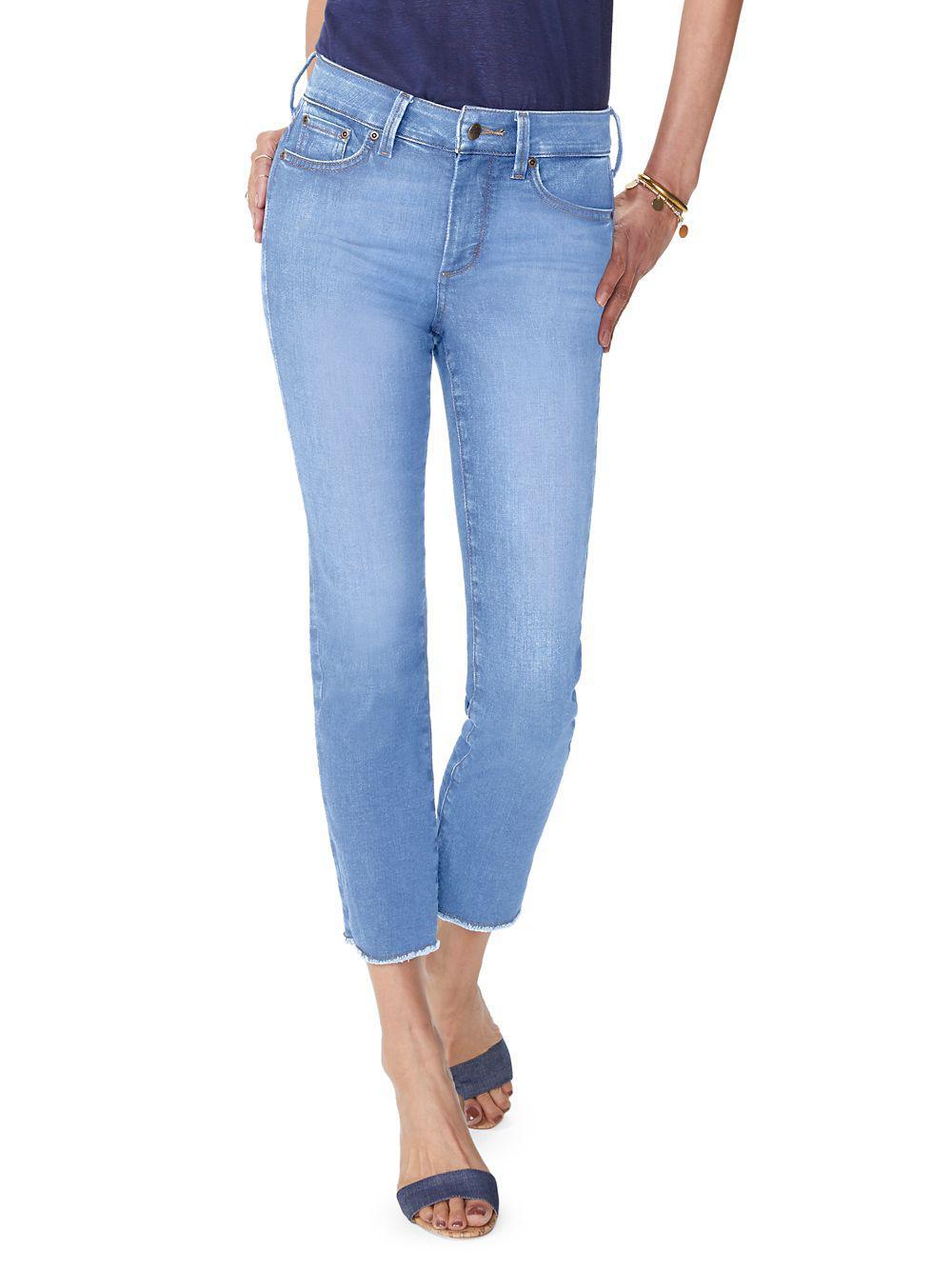 b9b52192c6 Lyst - Nydj Petite Sheri Ankle Jeans in Blue