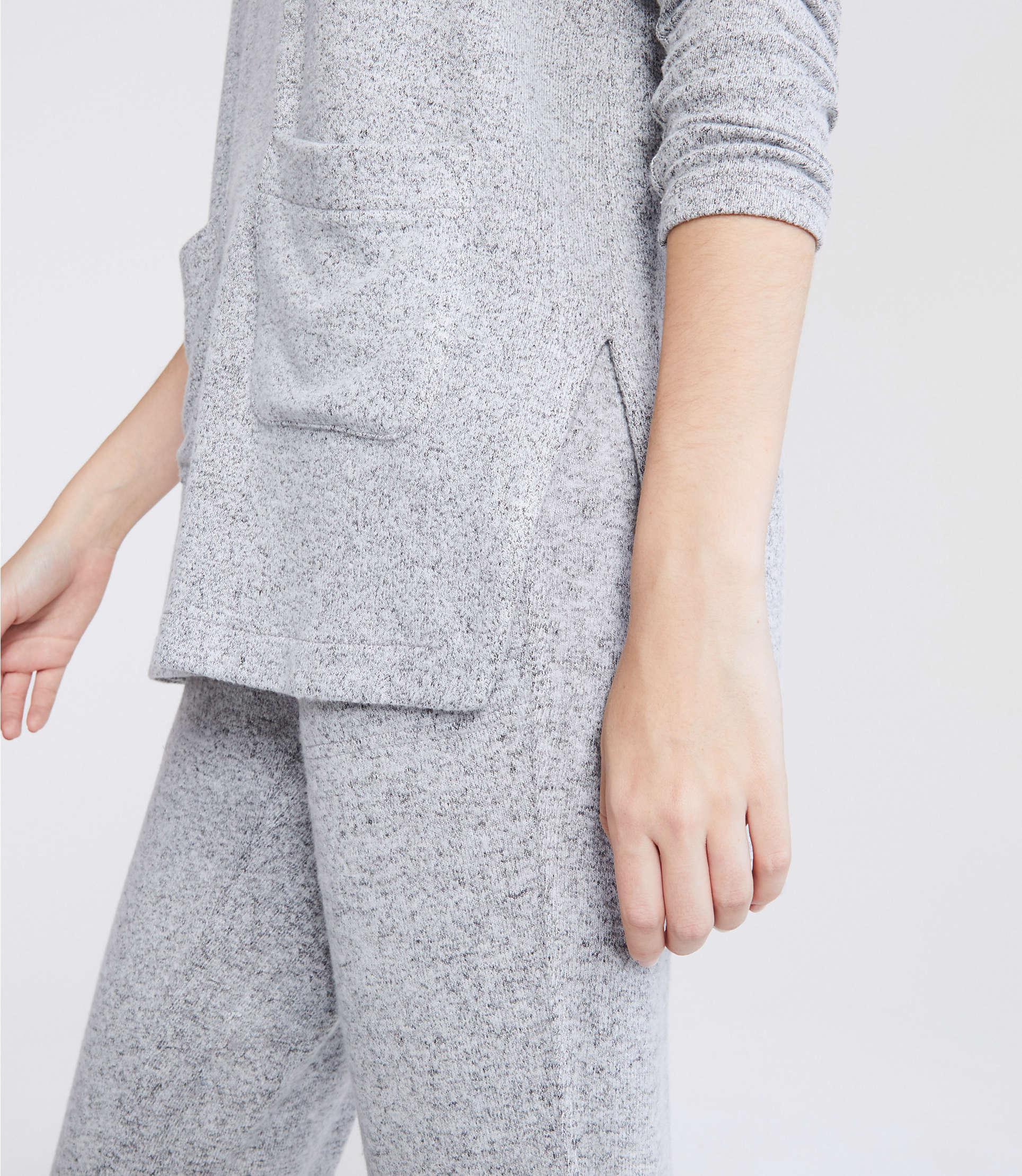 f301814a54259 Lou & Grey - Gray Brushmarl Pocket Hoodie Top - Lyst. View fullscreen