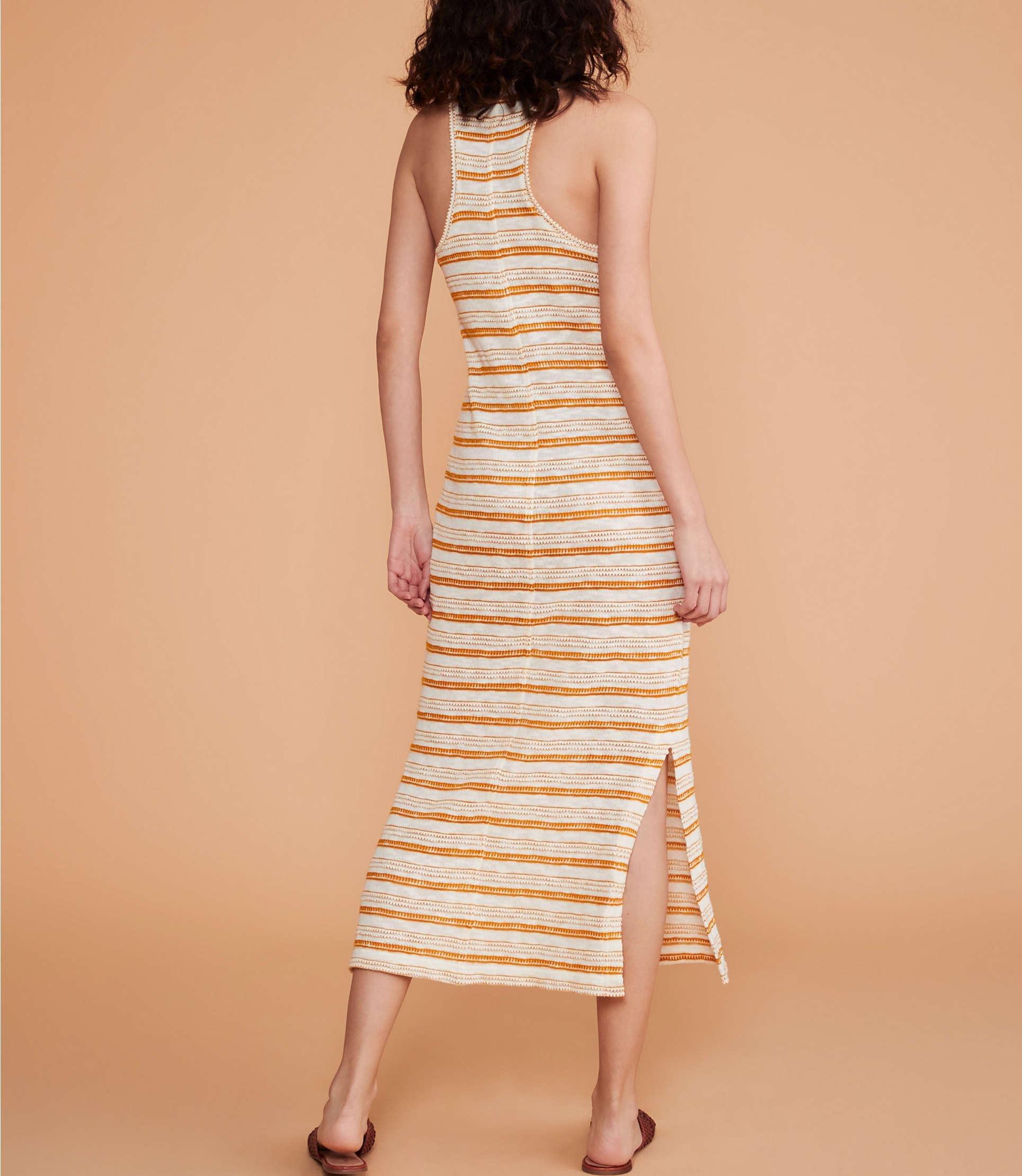 9ee7ae9de8 Lou & Grey - Multicolor Crochet Striped Maxi Dress - Lyst. View fullscreen