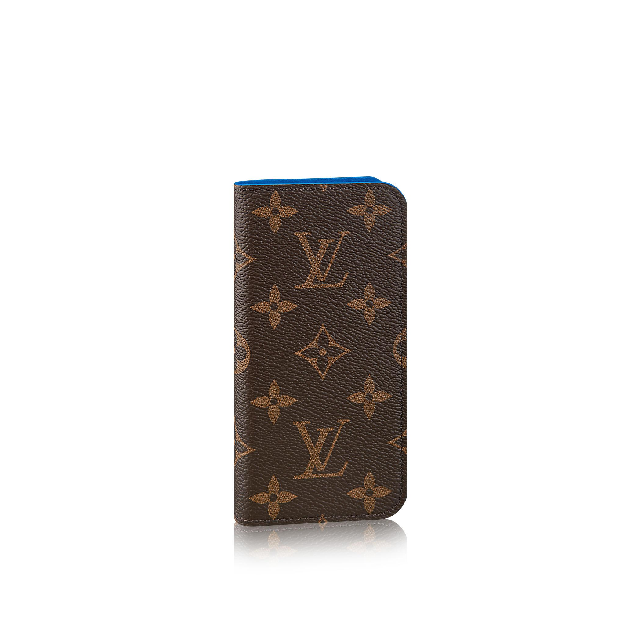 louis vuitton iphone 7 folio in blue lyst. Black Bedroom Furniture Sets. Home Design Ideas