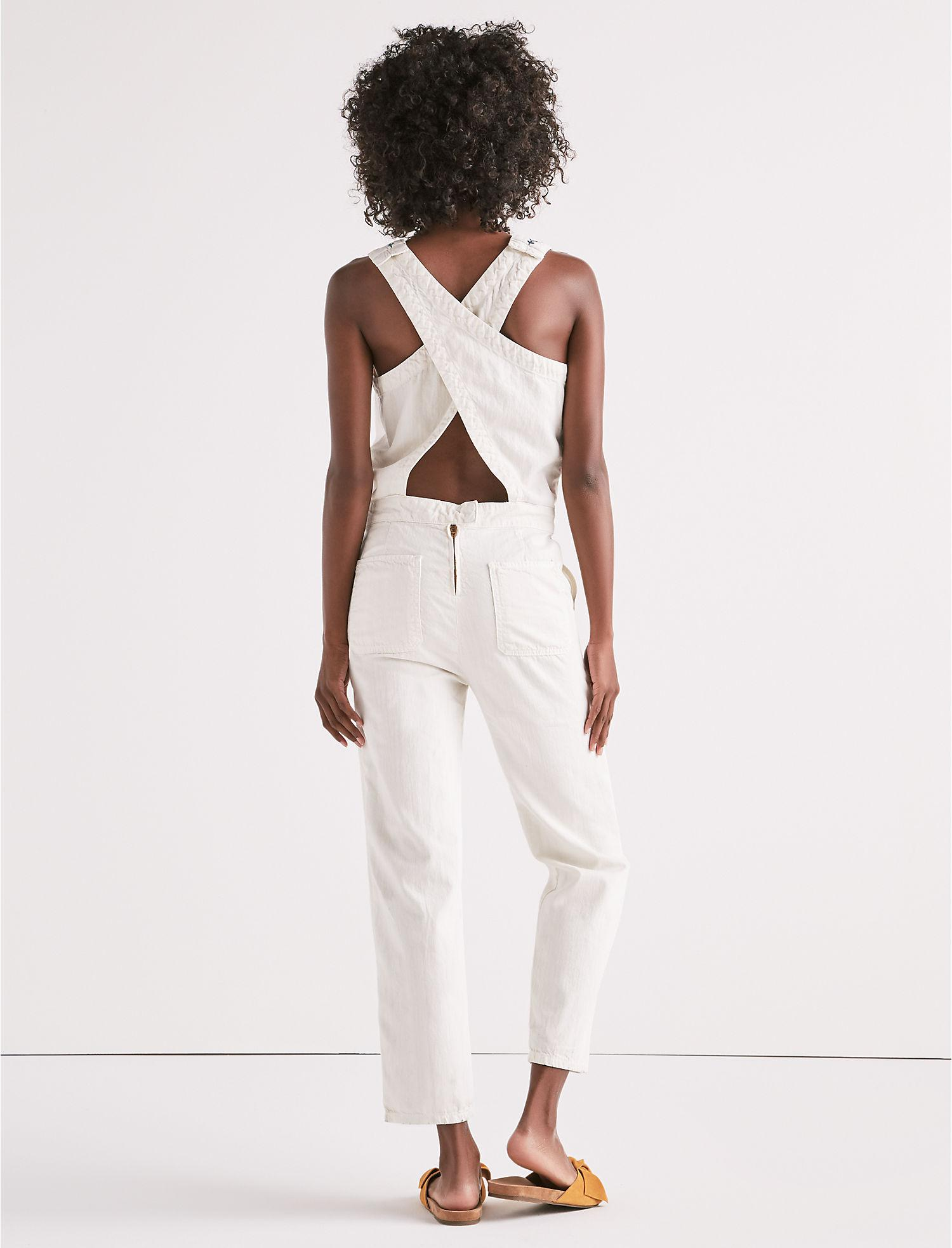 a4623a6d4a9 Lyst - Lucky Brand Tomboy Jumpsuit With Embroidery