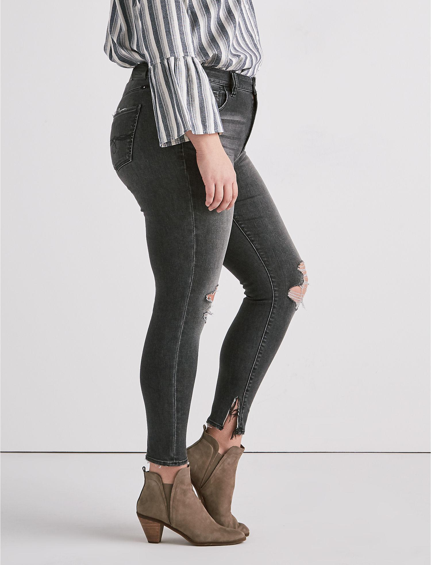 38891e7ee77 Lyst - Lucky Brand Plus Size Emma Legging Jean In Lyon in Black