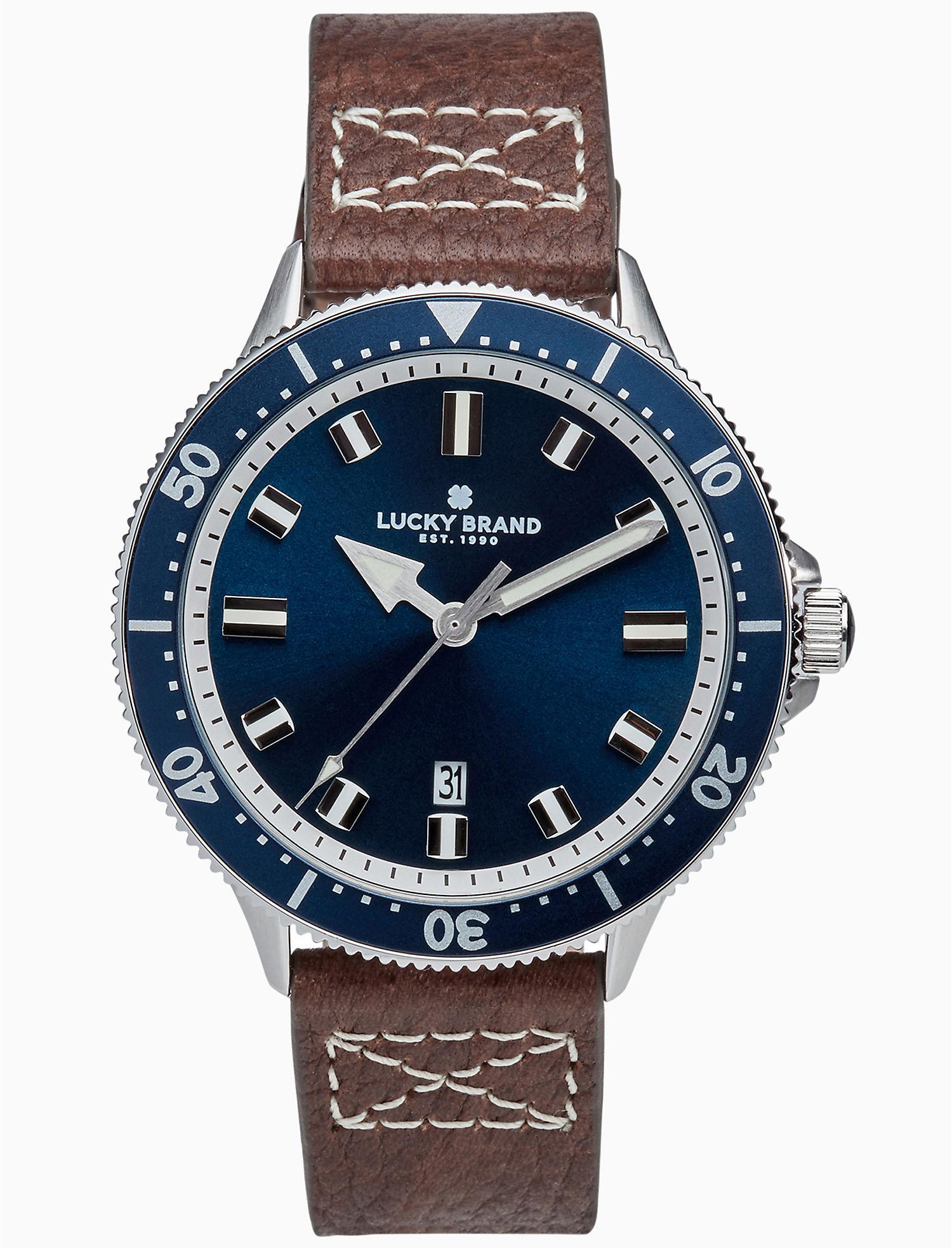 Lyst Lucky Brand Dillon Blue Watch 42mm For Men Fossil Jr1510 Original View Fullscreen