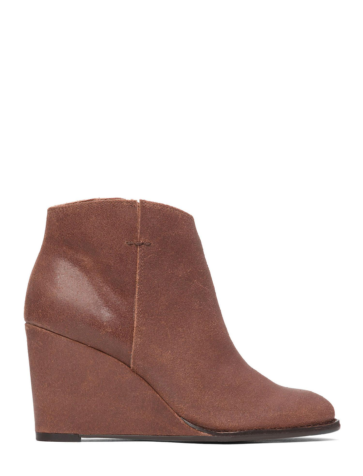 321c745dce1b Lyst - Lucky Brand Validas Wedge Bootie in Brown